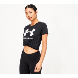 アンダーアーマー Under Armour レディース Tシャツ トップス large logo t-shirt Black fermart-hobby