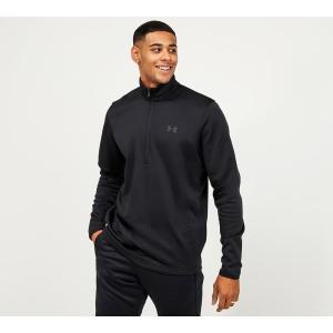 アンダーアーマー Under Armour メンズ Tシャツ ハーフジップ トップス armour fleece 1/2 zip long sleeve t-shirt Black fermart-hobby
