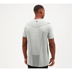 アンダーアーマー Under Armour メンズ Tシャツ トップス seamless wave t-shirt Glass Blue (Grey) fermart-hobby