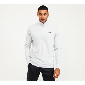 アンダーアーマー Under Armour メンズ Tシャツ トップス tech half zip t-shirt Halo Grey/Black fermart-hobby