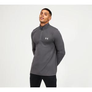 アンダーアーマー Under Armour メンズ 長袖Tシャツ ハーフジップ トップス seamless 1/2 zip long sleeved t-shirt Pitch Grey fermart-hobby