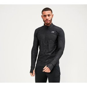 アンダーアーマー Under Armour メンズ Tシャツ トップス qualifier stealth half zip t-shirt Black|fermart-hobby
