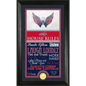 ワシントン キャピタルズ Washington Capitals グッズ House Rules Supreme Bronze Coin Photo Mint|fermart-hobby