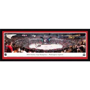 ワシントン キャピタルズ Washington Capitals グッズ ポスター Panoramas 2018 Stanley Cup Champions Select Framed Panorama Poster|fermart-hobby