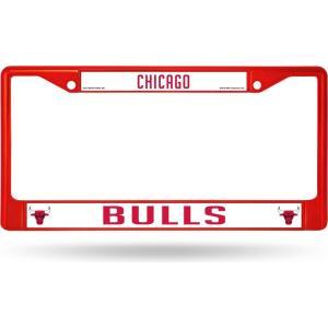シカゴ ブルズ Chicago Bulls グッズ Chrome License Plate Frame|fermart-hobby