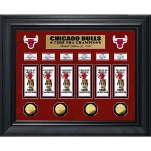 シカゴ ブルズ Chicago Bulls グッズ 6-Time NBA Champions Deluxe Banner Collection Photo Mint|fermart-hobby