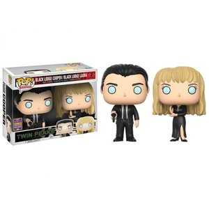 ツイン ピークス TWIN PEAKS フィギュア pop! tv: twin peaks - black lodge cooper and laura exclusive two-pack|fermart-hobby