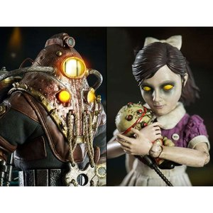 バイオショック BIOSHOCK フィギュア bioshock 2 subject delta & little sister (deluxe) 1/6 scale collectible figure set|fermart-hobby