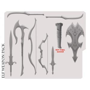 ミシックレギオンズ MYTHIC LEGIONS フィギュアパーツ mythic legions advent of decay elf weapons pack fermart-hobby