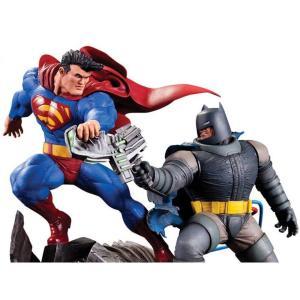 ディーシー コミックス DC COMICS 彫像・スタチュー batman: the dark knight returns batman vs. superman limited edition mini battle statue|fermart-hobby