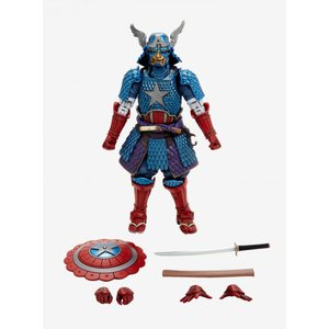キャプテン アメリカ Captain America フィギュア おもちゃ Bandai Tamashii Nations Marvel Captain America Samurai Action Figure|fermart-hobby
