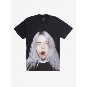 メンズ Tシャツ トップス Billie Eilish Tarantula Mouth T-Shirt|fermart-hobby