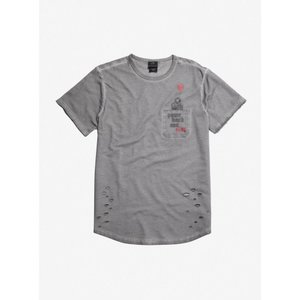 ワーナー ブラザース WB メンズ Tシャツ ポケット トップス Chapter Two Pennywise Destructed Oil Wash Pocket T-Shirt|fermart-hobby