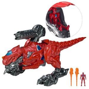パワーレンジャー Power Rangers 可動式フィギュア Movie T-Rex Zord with Action Figure|fermart-hobby