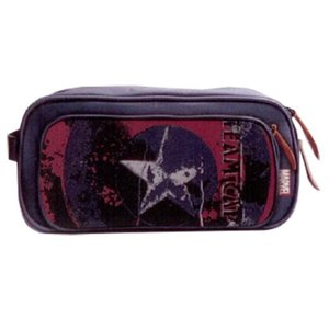 キャプテン アメリカ Bbデザイン Bb Designs Marvel Comics Civil War Legend Captain America  Canvas Toiletry Bathroom Bag|fermart-hobby