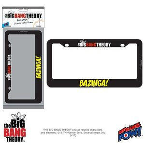 ビッグバン セオリー Big Bang Theory グッズ The BAZINGA! License Plate Frame|fermart-hobby