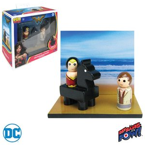 ワンダーウーマン Wonder Woman グッズ Pin Mate Wood Themyscira Island Set with and Steve Trevor|fermart-hobby