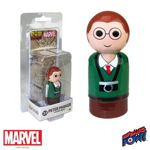 スパイダーマン Spider-Man フィギュア Peter Parker Pin Mate Wooden Figure fermart-hobby