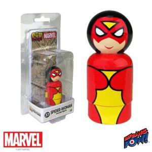スパイダーマン Spider-Man フィギュア Spider-Woman Pin Mate Wooden Figure fermart-hobby