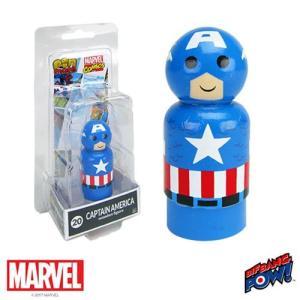 キャプテン アメリカ Captain America フィギュア Pin Mate Wooden Figure|fermart-hobby