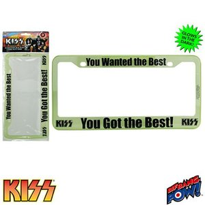 キッス KISS グッズ You Wanted the Best You Got the Best License Plate Frame|fermart-hobby