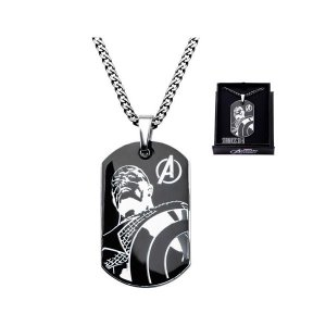 キャプテン・アメリカ ボディーヴァイブ Body Vibe Avengers Captain America Steel Dog Tag and Chain Necklace|fermart-hobby