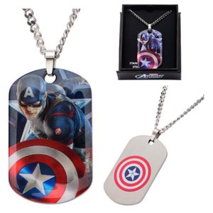 キャプテン アメリカ ボディーヴァイブ Body Vibe Captain America Stainless Steel Dog Tag Pendant Necklace|fermart-hobby