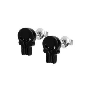 パニッシャー ボディーヴァイブ Body Vibe Punisher Black Stud Earrings|fermart-hobby