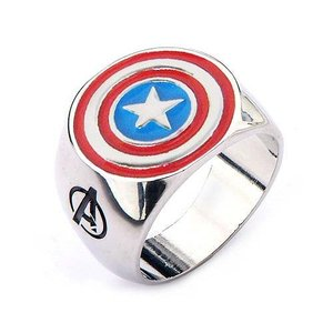 キャプテン アメリカ ボディーヴァイブ Body Vibe Avengers Captain America Shield Steel Ring|fermart-hobby
