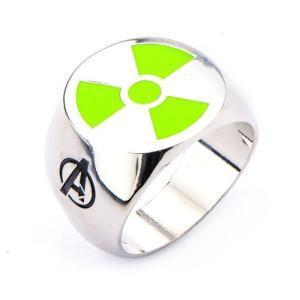ハルク ボディーヴァイブ Body Vibe Avengers Hulk Green Radioactive Logo Steel Ring|fermart-hobby