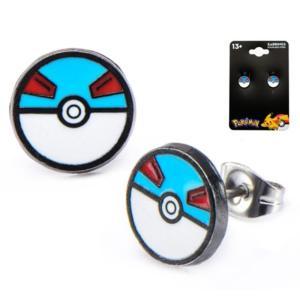 ポケットモンスター ポケモン ボディーヴァイブ Body Vibe Pokemon Great Ball Stainless Steel Stud Earrings|fermart-hobby