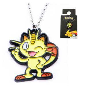ポケットモンスター ポケモン ボディーヴァイブ Body Vibe Pokemon Meowth Enamel Pendant Stainless Steel Necklace|fermart-hobby