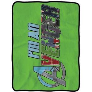 アベンジャーズ サーリアルエンターテインメント サーリアル Surreal Entertainment Avengers I'm an Avenger Fleece Throw Blanket|fermart-hobby