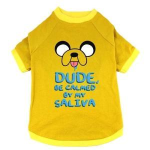 アドベンチャー タイム コープ The Coop Adventure Time Dude, Be Calmed By My Saliva Dog Shirt|fermart-hobby