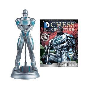ディーシーコミック DCコミック DC Superhero Steel White Pawn Chess Piece with Collector Magazine|fermart-hobby