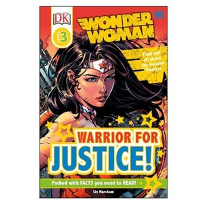 ワンダーウーマン Wonder Woman 本・雑誌 DC Comics : Warrior for Justice DK Readers 3 Hardcover Book|fermart-hobby