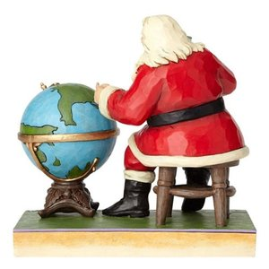 コカ コーラ Coca-Cola 彫像・スタチュー Santa and Globe Jolly Journey Statue by Jim Shore|fermart-hobby