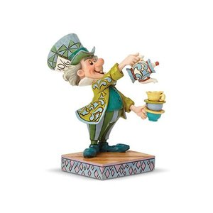 アリス イン ワンダーランド Alice in Wonderland 彫像・スタチュー Disney Traditions Alice In Wonderland Mad Hatter A Spot of Tea Statue by Jim Shore|fermart-hobby