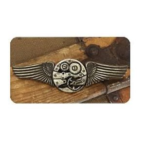 スチームパンク エロープ Elope Steampunk Antique Gear Wings Pin|fermart-hobby