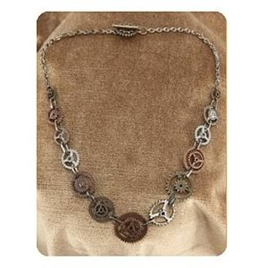 スチームパンク エロープ Elope Steampunk Single Chain Gear Necklace|fermart-hobby