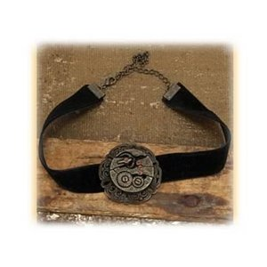 スチームパンク エロープ Elope Steampunk Antique Gear Black Velvet Choker|fermart-hobby