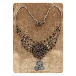 スチームパンク エロープ Elope Steampunk Antique Gear Chain Necklace|fermart-hobby