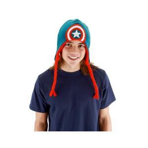 キャプテン・アメリカ エロープ Elope Captain America Knit Laplander Hat|fermart-hobby