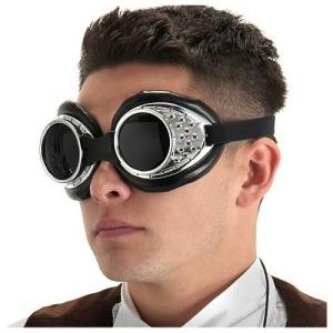 スチームパンク エロープ Elope Steampunk Radioactive Silver Aviator Goggles|fermart-hobby