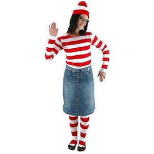 ウォーリーをさがせ! エロープ Elope Where's Waldo Wenda Adult Costume Kit|fermart-hobby