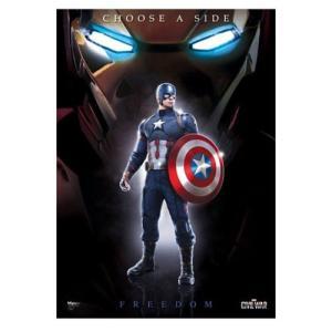 キャプテン アメリカ Captain America グッズ : Civil War Team Cap MightyPrint Wall Art Print|fermart-hobby
