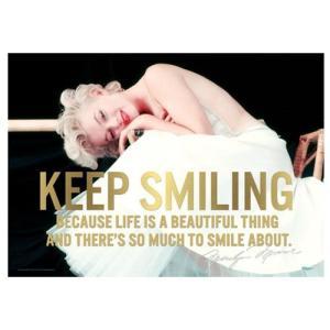 マリリンモンロー Marilyn Monroe グッズ Keep Smiling MightyPrint Wall Art Print|fermart-hobby