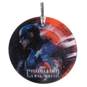 キャプテン アメリカ スターファイルプリント Starfire Prints Captain America: Civil War Cap StarFire Prints Hanging Glass Ornament|fermart-hobby