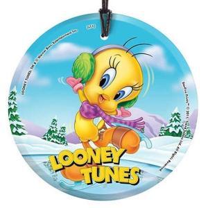 ルーニー テューンズ スターファイルプリント Starfire Prints Looney Tunes Tweety Skating StarFire Prints Hanging Glass Print|fermart-hobby