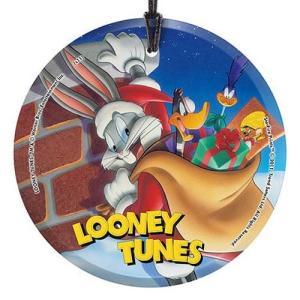 ルーニー テューンズ スターファイルプリント Starfire Prints Looney Tunes Santa Bugs Bunny StarFire Prints Hanging Glass Print|fermart-hobby